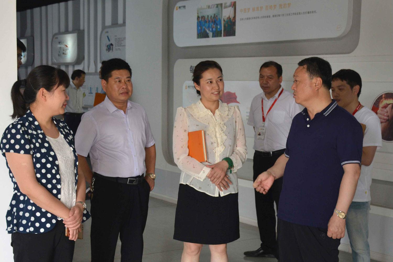蚌埠市委常委,市人民政府常务副市长郑东涛一行莅临百特公司考察指导