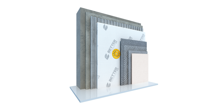 防火的无机纤维真空保温板外保温系统